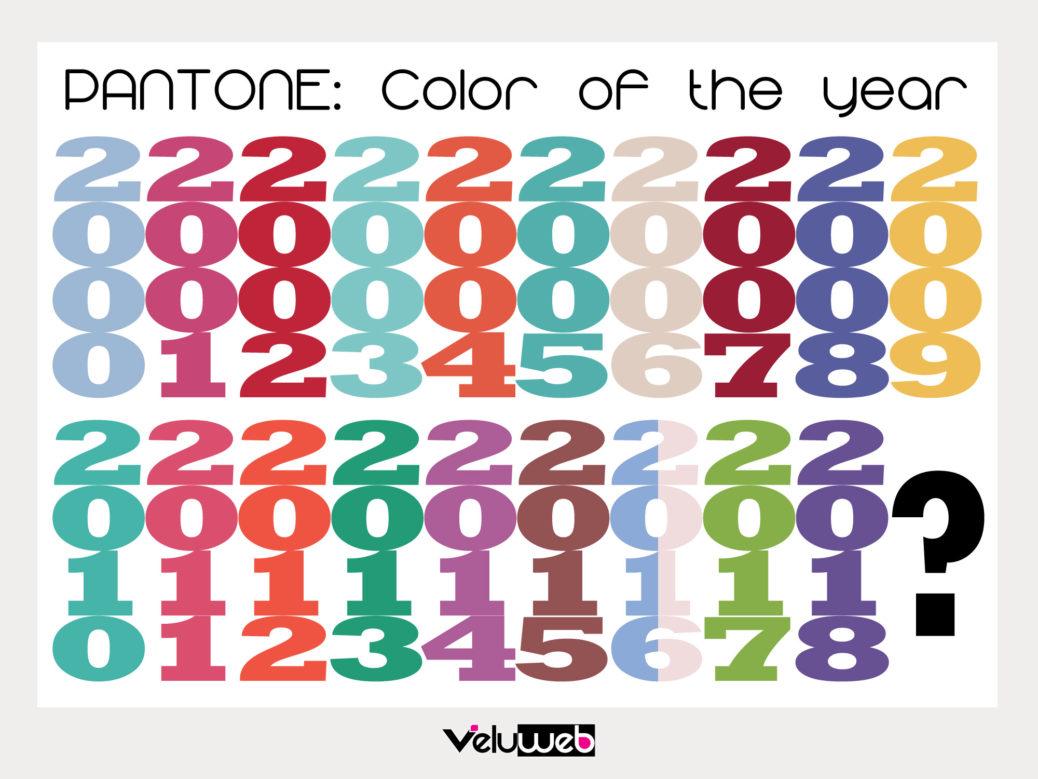 I colori dell'anno scelti da Pantone dal 2000 ad oggi