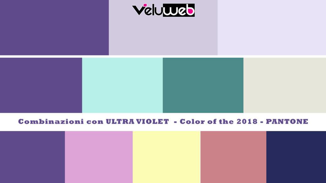 Alcune palette con il colore 2018 Ultra Violet