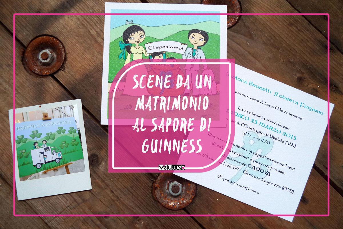 Scene da un matrimonio al sapore di Guinness